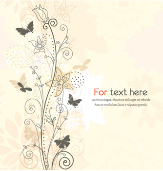 Free floral background vector - Free vector #254387