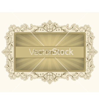 Free vintage label with rays vector - Free vector #254457