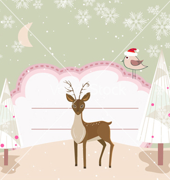 Free christmas greeting card vector - Kostenloses vector #254507