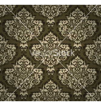 Free damask seamless background vector - бесплатный vector #254727