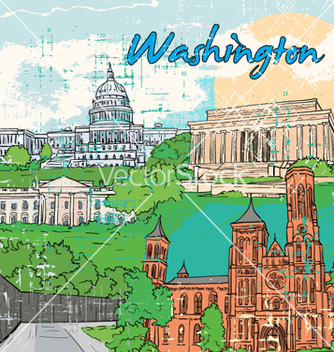 Free washington doodles vector - vector gratuit #254767