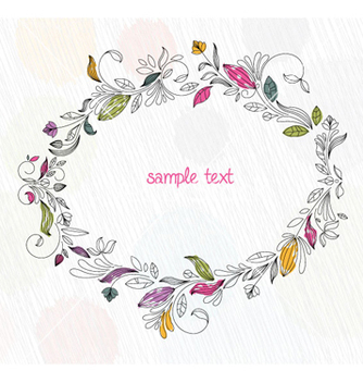 Free doodles floral frame vector - Free vector #254807