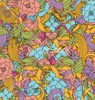 Free retro floral pattern vector - Free vector #254817