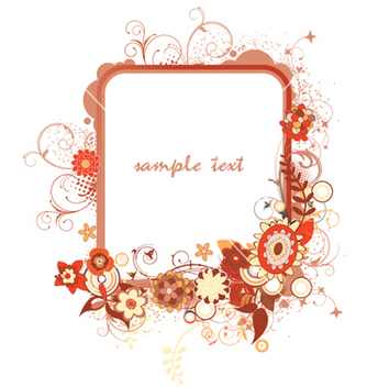 Free floral frame vector - Free vector #254897