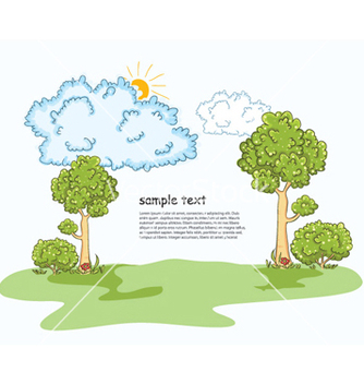 Free trees with clouds vector - Kostenloses vector #255027