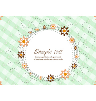 Free abstract floral frame vector - Free vector #255037