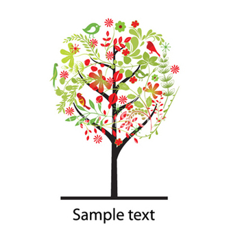 Free colorful tree vector - Free vector #255077