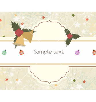 Free christmas greeting card vector - Kostenloses vector #255117