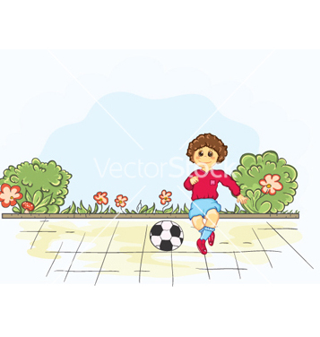 Free kid playing soccer vector - Free vector #255207