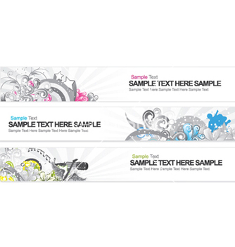 Free web banners vector - Free vector #255397