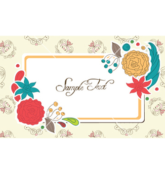Free frame with floral vector - Kostenloses vector #255567