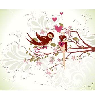 Free love birds vector - vector gratuit #255607