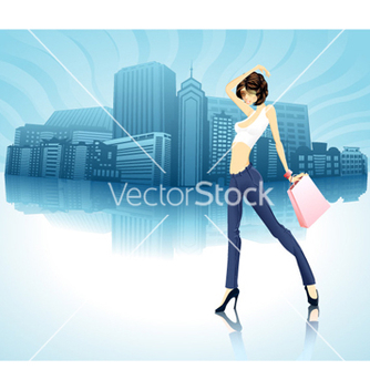 Free shopping girl vector - vector gratuit #255687