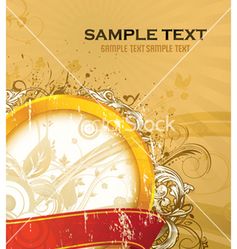 Free vintage gold label vector - бесплатный vector #255917