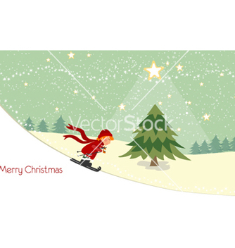 Free christmas greeting card vector - Kostenloses vector #255947