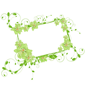 Free spring floral frame vector - Free vector #255957