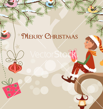 Free christmas background vector - Free vector #256077