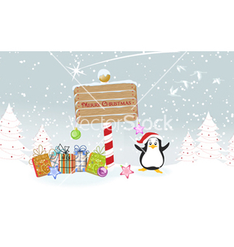Free penguin with presents vector - Kostenloses vector #256147