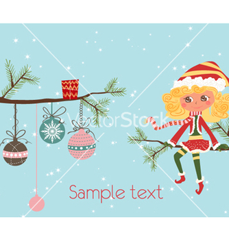 Free girl on a branch vector - vector gratuit #256177
