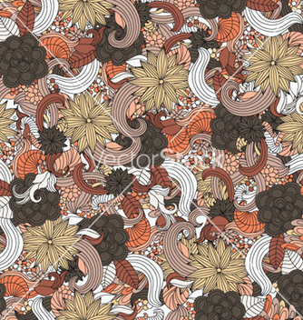 Free retro floral seamless pattern vector - Kostenloses vector #256247