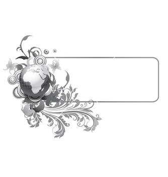Free abstract floral frame vector - Free vector #256327