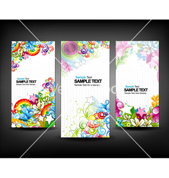 Free colorful banners set vector - vector #256437 gratis