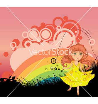 Free girl playing with jump rope vector - Kostenloses vector #256607