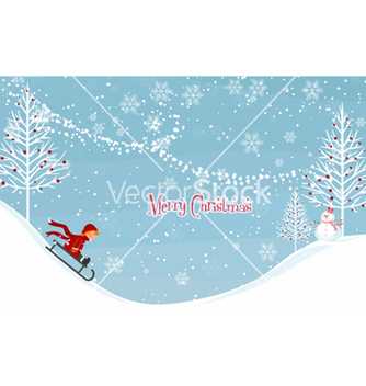 Free winter background vector - vector #256657 gratis