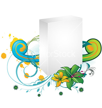 Free blank 3d box with floral vector - vector gratuit #256697