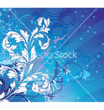Free abstract floral background vector - vector gratuit #256737