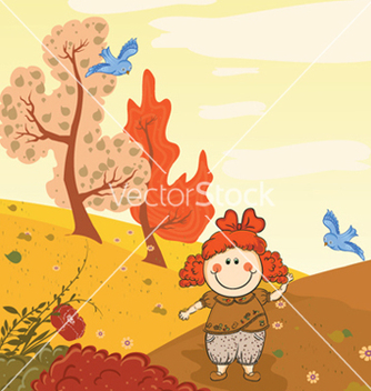 Free girl in the park vector - Kostenloses vector #256747