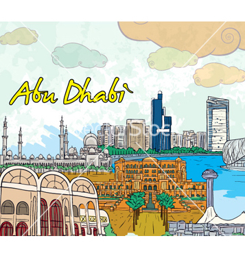 Free abu dhabi doodles vector - Free vector #256867