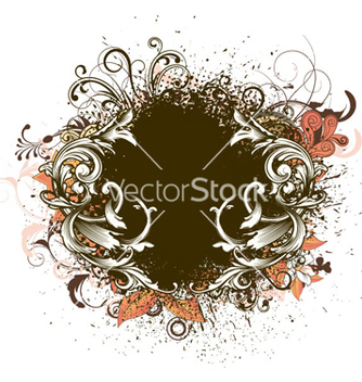 Free floral frame vector - Kostenloses vector #257147