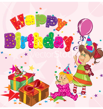 Free happy birthday vector - vector gratuit #257257