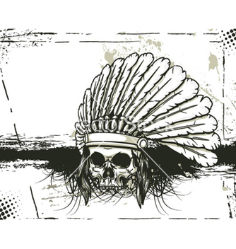 Free skull with grunge background vector - Kostenloses vector #257597