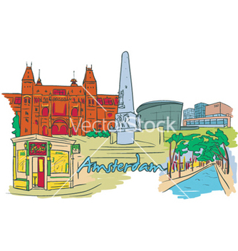 Free amsterdam doodles vector - Free vector #257657