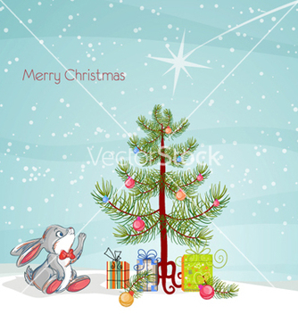 Free christmas greeting card vector - Kostenloses vector #257687