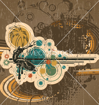 Free vintage summer background vector - Free vector #257787