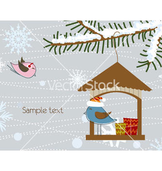 Free christmas greeting card vector - бесплатный vector #257897