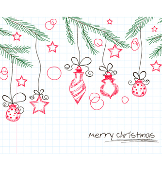 Free christmas background vector - бесплатный vector #257907