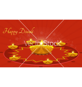 Free diwali greeting card vector - Free vector #257927