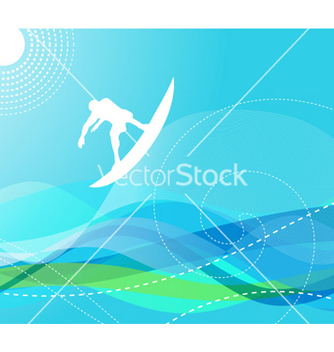 Free surfer with waves vector - Free vector #257937