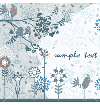 Free spring floral background vector - Free vector #257947
