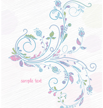 Free doodles floral background vector - Free vector #257957