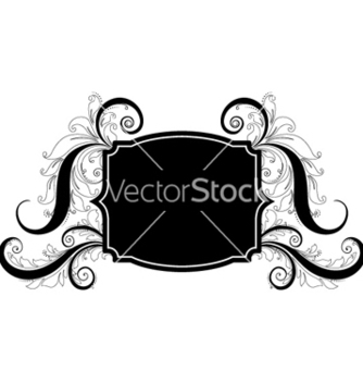 Free vintage label with floral vector - Kostenloses vector #257987