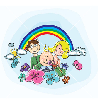 Free cartoon family background vector - Kostenloses vector #257997