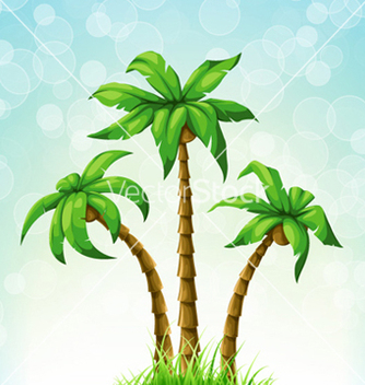 Free summer with palm trees vector - Free vector #258347