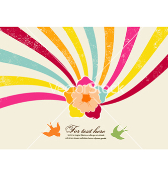 Free flower with rainbow vector - Kostenloses vector #258477