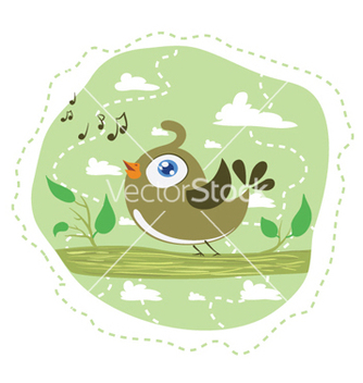 Free singing bird vector - Free vector #258587