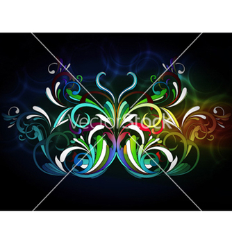 Free butterfly with bokeh background vector - Free vector #258747